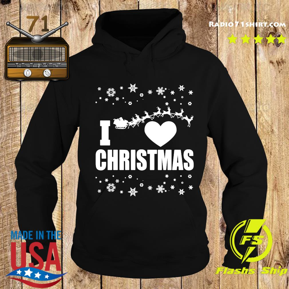 I Love Christmas Ugly Sweats Hoodie