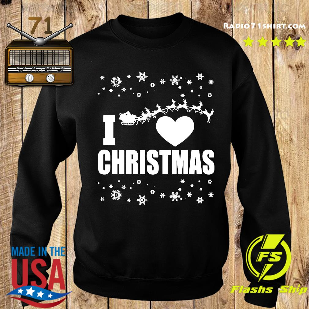 I Love Christmas Ugly Sweatshirt