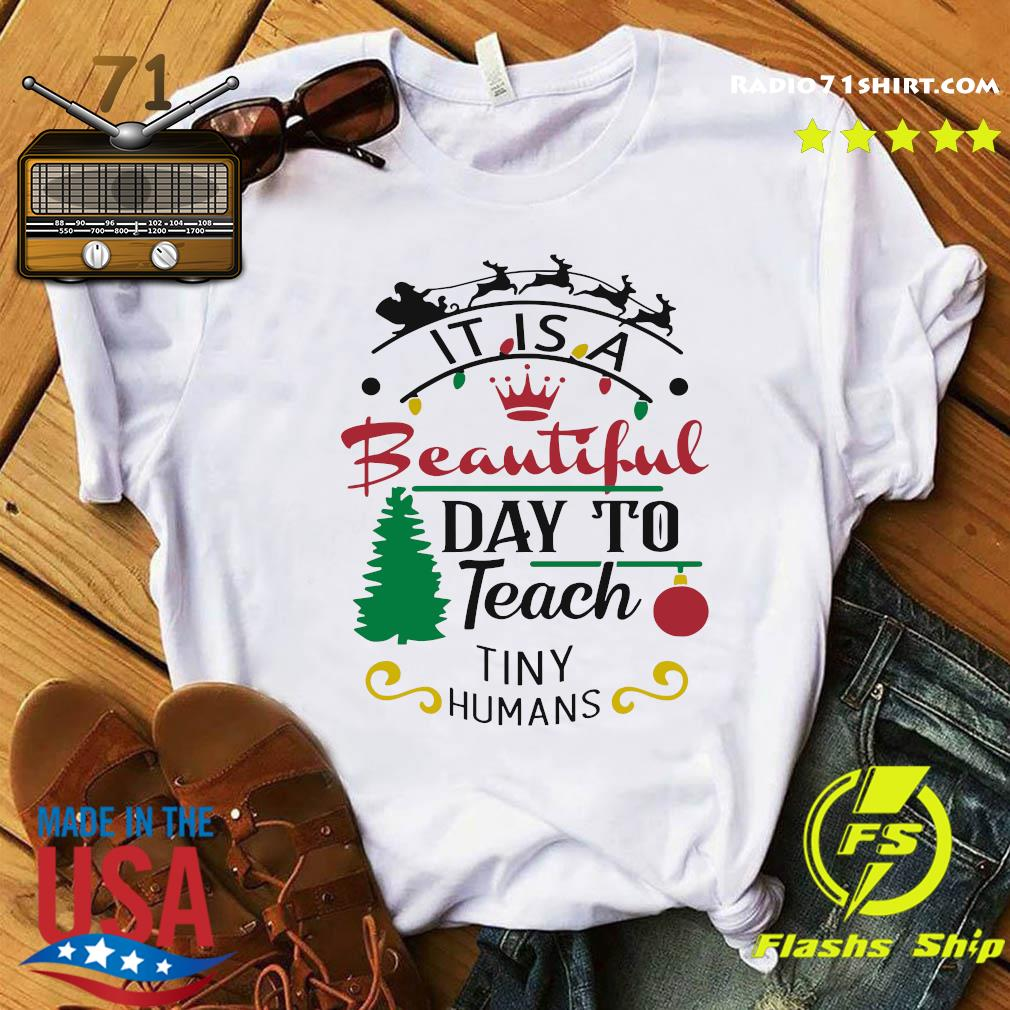 It Is A Beautiful Day To Teach Tiny Humans Christmas Sweats Shirt