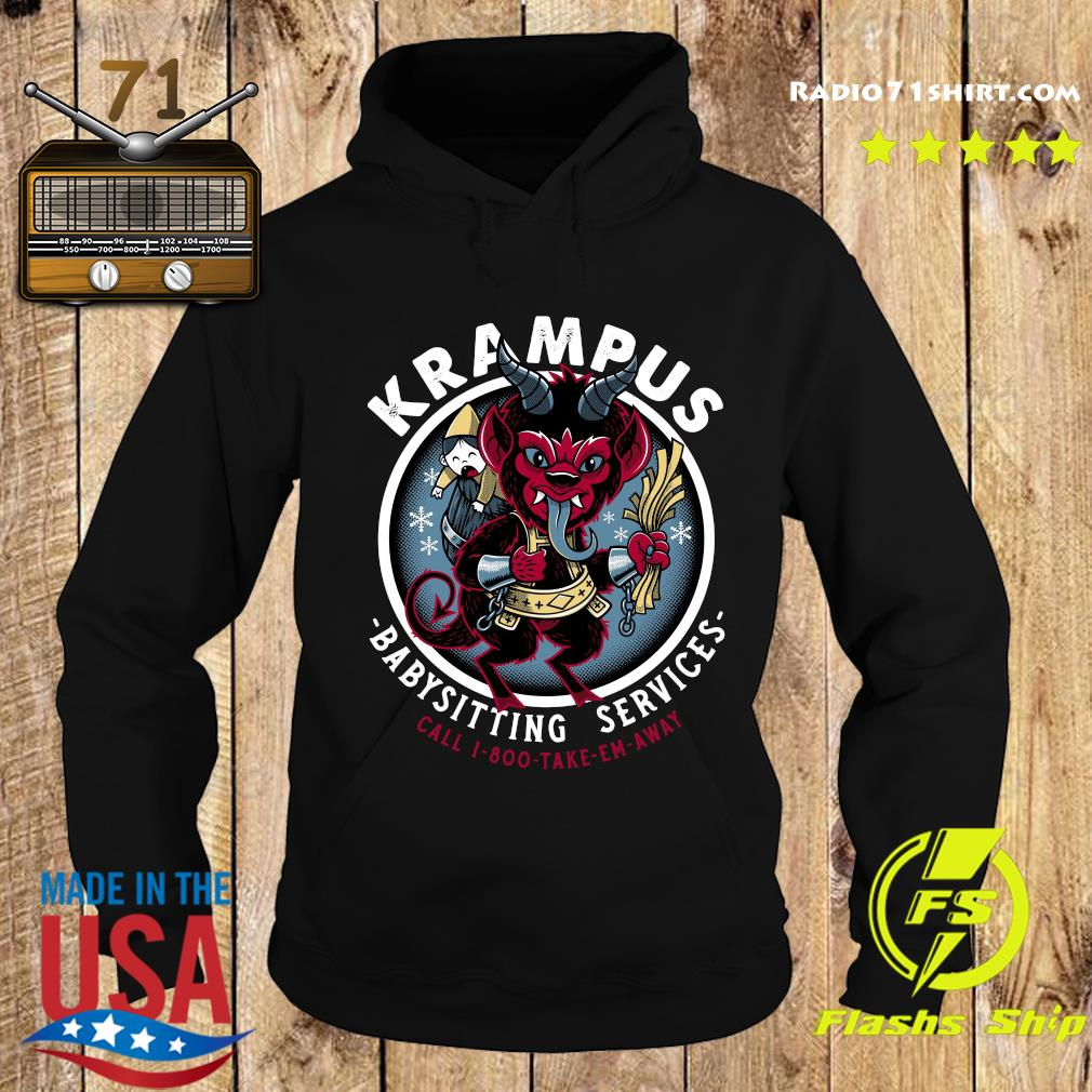 Krampus Babysitting Services Call 1 800 Take Em Away Shirt Hoodie