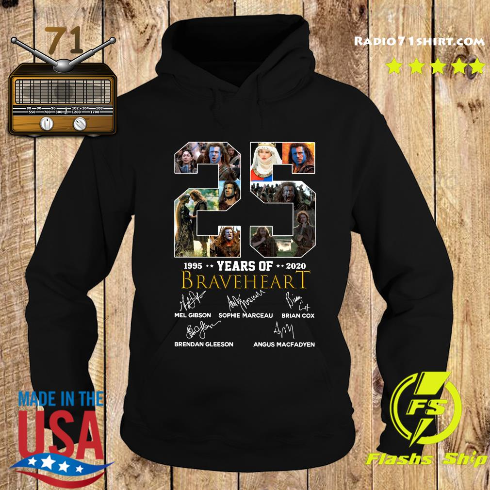 Official 25 Years Of Braveheart 1995 2020 Signatures Shirt Hoodie