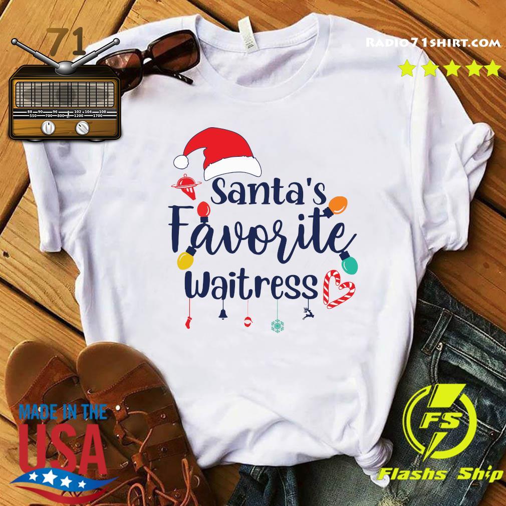 Santa's Favorite Waitress Christmas Light Shirt
