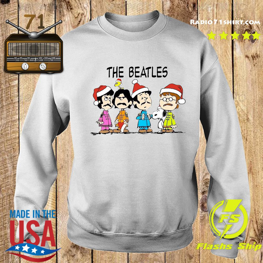The Beatles Santa And Snoopy Christmas Sweatshirt