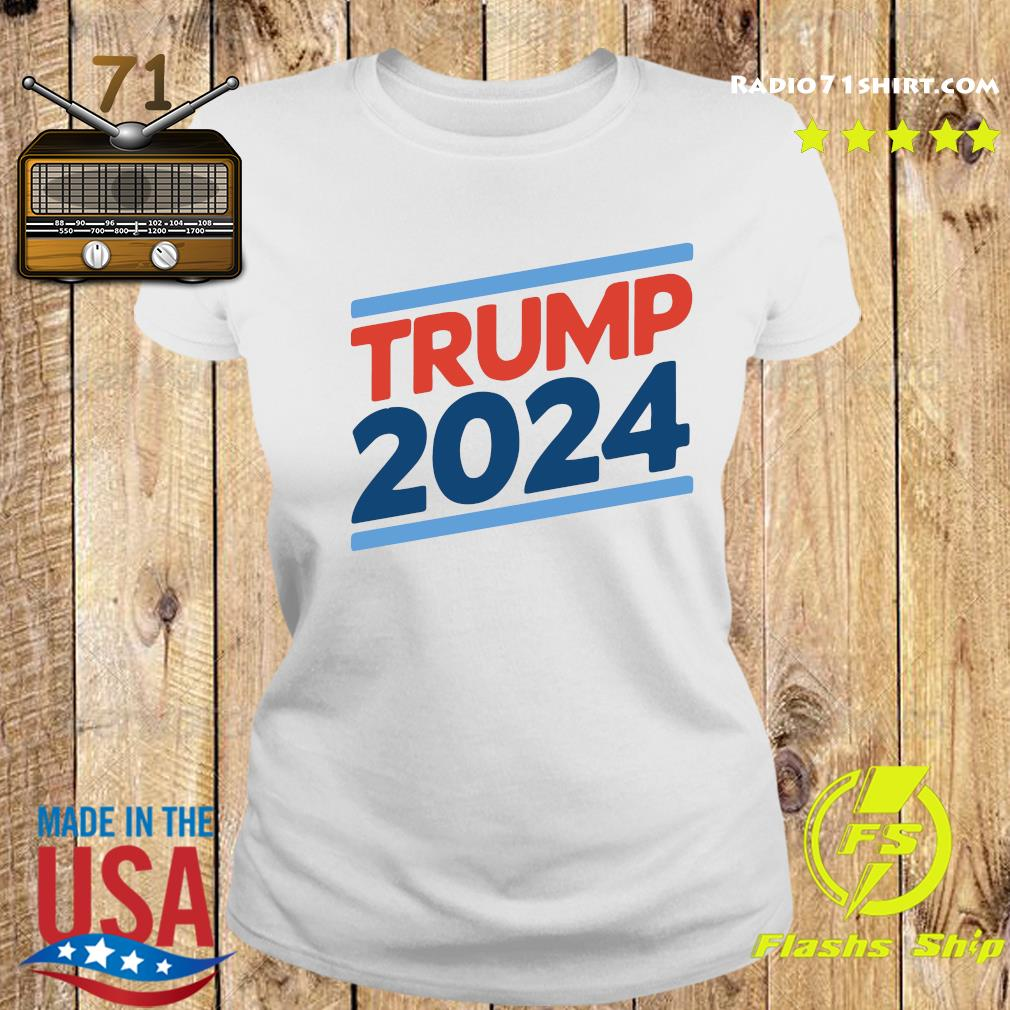 Trump 2024 Retro Crew Neck Shirt Ladies tee