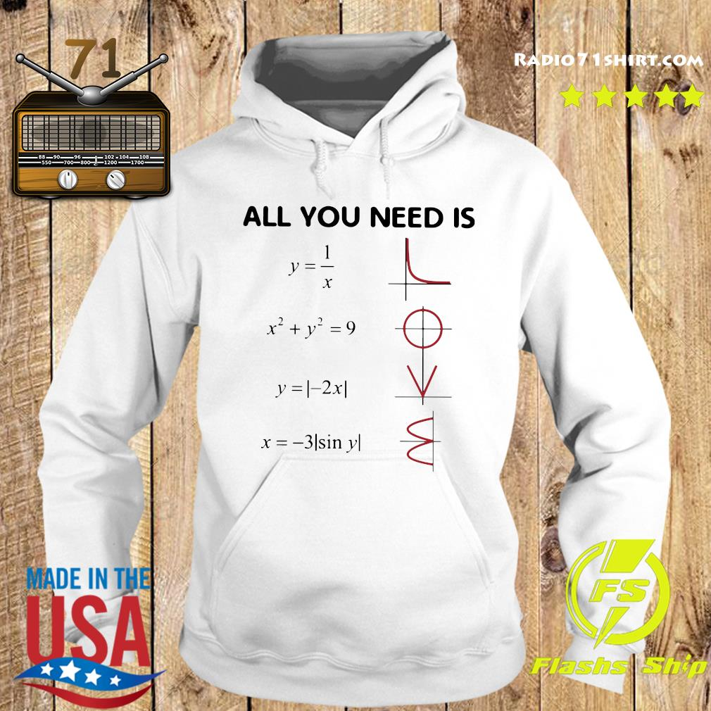 All You Need Is Love Math Shirt Hoodie