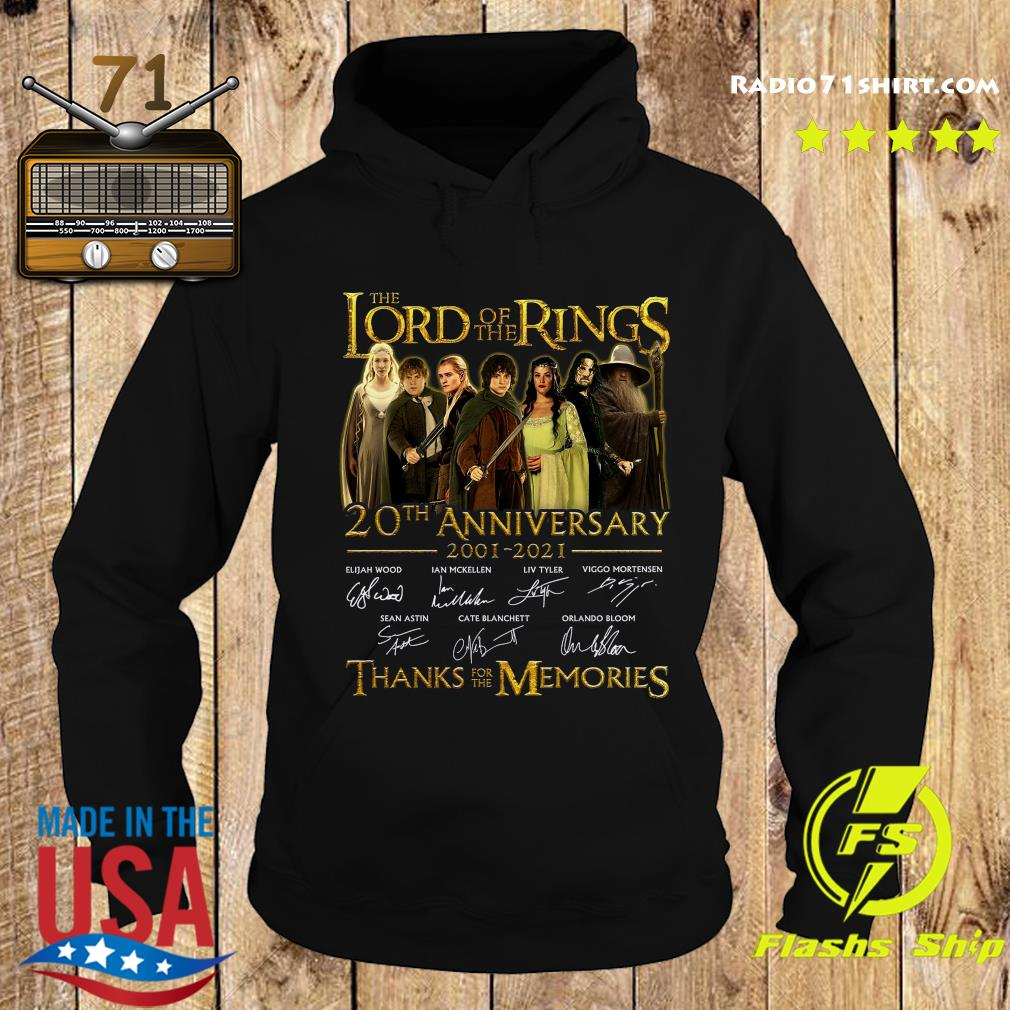 The Lord Of The Rings 20th Anniversary 2001 2021 Thank You For The Memories Signatures Shirt Hoodie